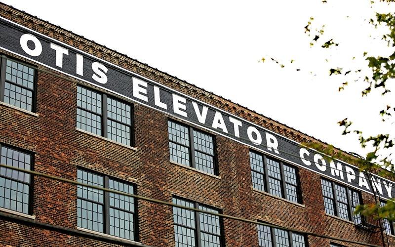 upward view of the Otis apartment building